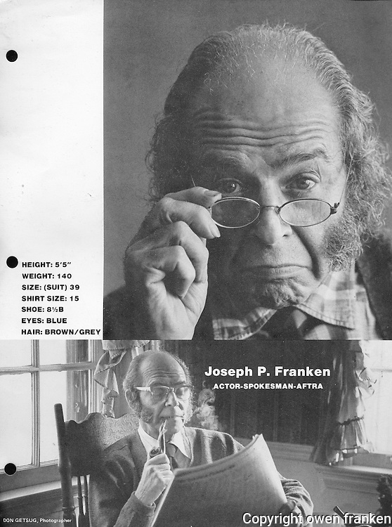 portraits of Dad, Joseph Franken