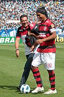 20111030: PORTO ALEGRE, BRAZIL - Football match between Gremio and  Flamengo teams held at the Sao januario. In picture Ronaldino Gaucho and Vanderlei  (Flamengo) <br /> PHOTO: CITYFILES
