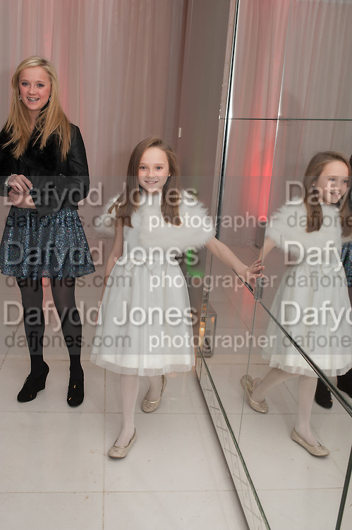AMELIA ALLEN; ISABELLE ALLEN; , English National Ballet's celebrates their Christmas season at the London Coliseum,  St Martins Lane hotel. London. 13 December 2012.