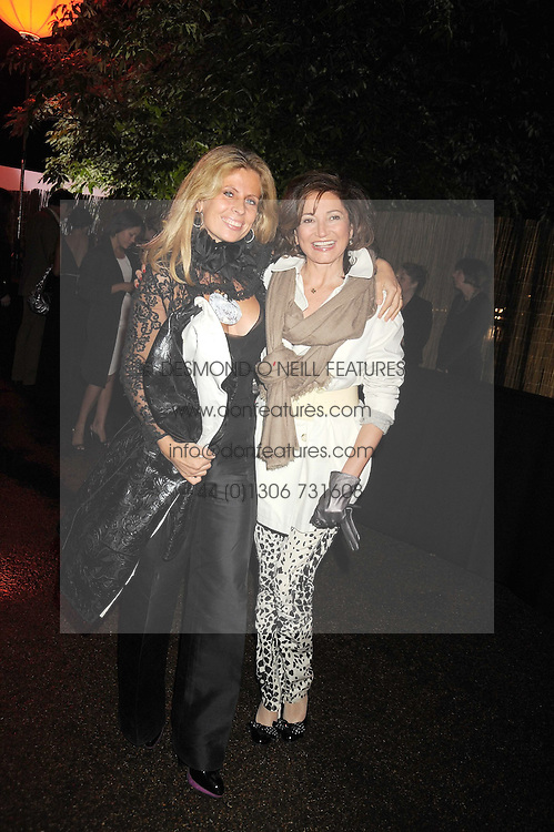 Left to right, LADY FORTE and DORIT MOUSSAIEFF at the annual Serpentine Gallery Summer Party in Kensington Gardens, London on 9th September 2008.