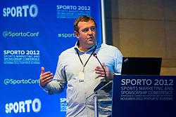 Toby Hester of European Sponsorship Association during sports marketing and sponsorship conference Sporto 2012, on November 26, 2012 in Hotel Slovenija, Congress centre, Portoroz / Portorose, Slovenia. (Photo By Vid Ponikvar / Sportida.com)