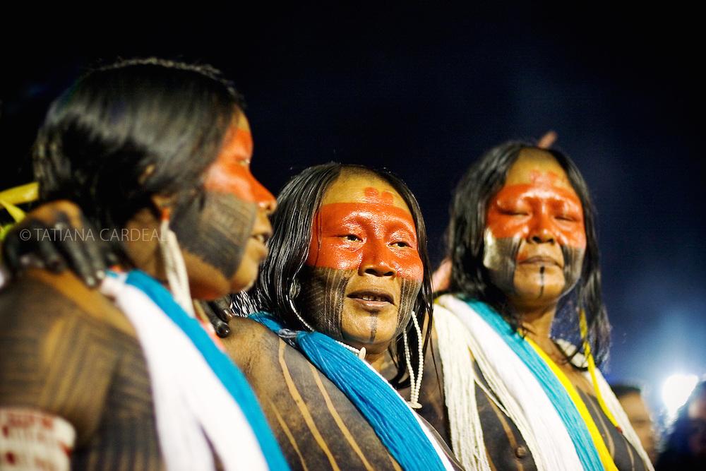 Kayapo women at Indigenous National Party.