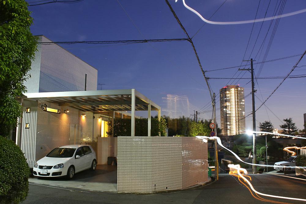 Osaka suburbs at night