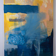 Splash, 2015<br /> oil, cardboard &amp; fabric<br /> 36&quot;x48&quot;<br /> $350.00 <br /> by Dona Leon