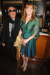 ROBERTO CAVALLI and SARAH, DUCHESS OF YORK at a party to celebrate the launch of Cavalli Selection - the first ever wine from Casa Cavalli, held at 17 Berkeley Street, London W1 on 29th May 2008.<br />