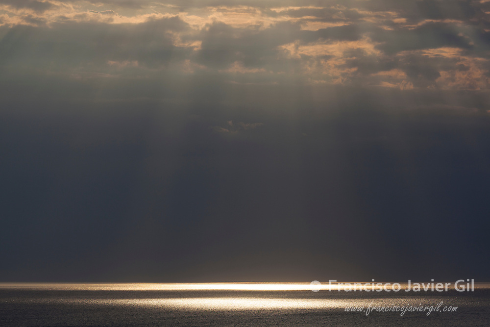 Rays of Sunlight in Etretat, Cote d'Albatre, Pays de Caux, Seine-Maritime department, Upper Normandy region, France