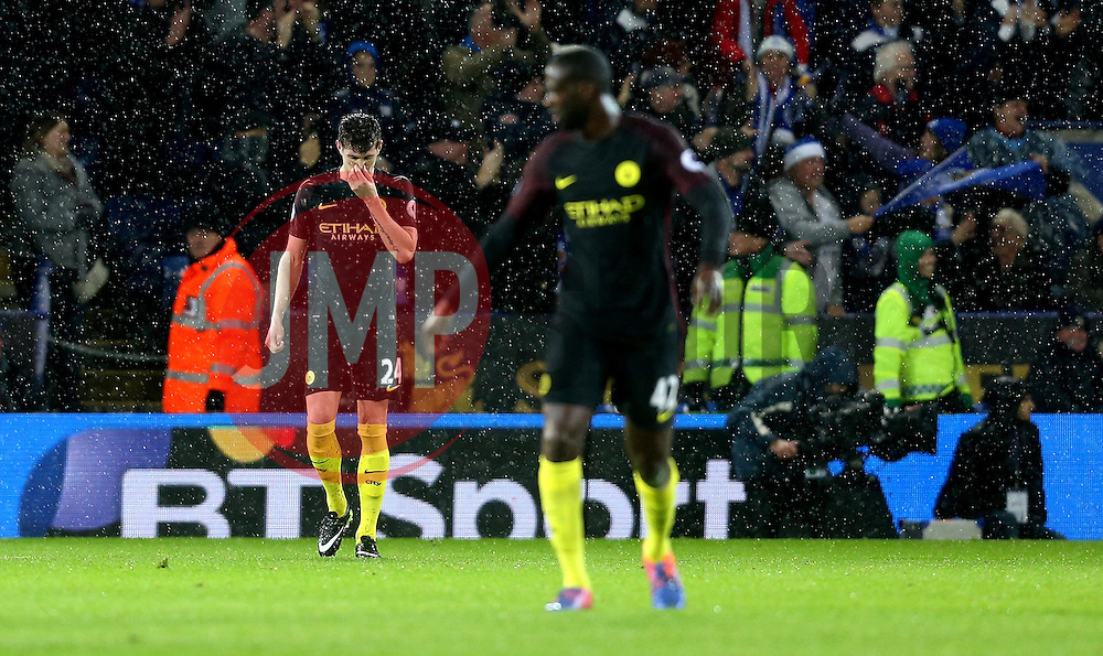 John Stones of Manchester City looks dejected after his side concede a fourth goal to Leicester City - Mandatory by-line: Robbie Stephenson/JMP - 10/12/2016 - FOOTBALL - King Power Stadium - Leicester, England - Leicester City v Manchester City - Premier League