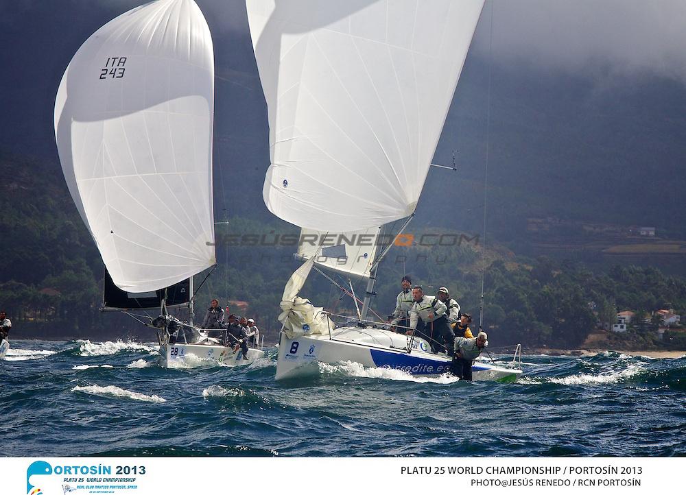 Platu 25 World Championships, Portosín , Galicia, Spain. 24-29 September 2013 , final ©