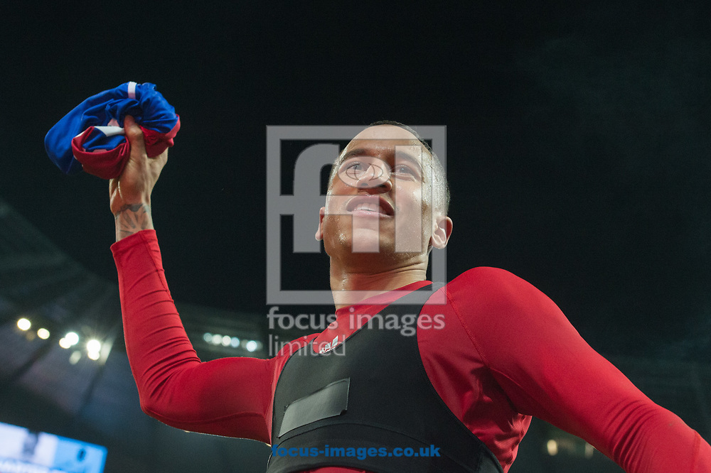 L&eacute;o Lacroix of Basel throws his shirt to fans following the UEFA Champions League match at the Etihad Stadium, Manchester<br /> Picture by Matt Wilkinson/Focus Images Ltd 07814 960751<br /> 06/03/2018