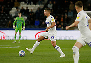 Leeds United midfielder Kalvin Phillips (23)  during the EFL Sky Bet Championship match between Hull City and Leeds United at the KCOM Stadium, Kingston upon Hull, England on 2 October 2018.
