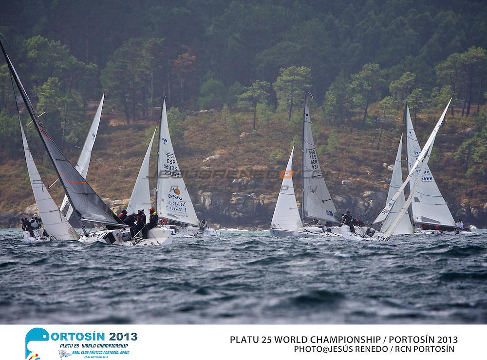 Platu 25 World Championships, Portosín , Galicia, Spain. 24-29 September 2013 , final day  ©