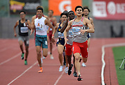 Apr 19, 2019; Torrance, CA, USA; Cameron Laverty of Houston wins the 800m in 1:51.22 during the 61st Mt. San Antonio College Relays at El Camino College.