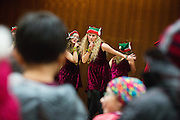 Center Stage Performing Arts performs during the Christmas Tree Lighting Ceremony at the Milpitas City Hall's Civic Center in Milpitas, California, on November 30, 2015. (Stan Olszewski/SOSKIphoto)