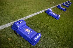 Bristol Rugby contact pads - Mandatory byline: Rogan Thomson/JMP - 22/11/2015 - RUGBY UNION - Ashton Gate Stadium - Bristol, England - Bristol Rugby v Scarlets Premiership Select - B&I Cup.