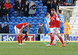 Bristol City's Scott Wagstaff (left) cuts a dejected figure as Bristol City draw 2 - 2 - Photo mandatory by-line: Dougie Allward/JMP - Mobile: 07966 386802 22/03/2014 - SPORT - FOOTBALL - Colchester - Colchester Community Stadium - Colchester United v Bristol City - Sky Bet League One