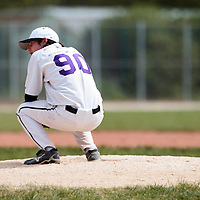 25 April 2010: Maximin Monbeig of the PUC looks dejected as he pitches against Rouen during game 1/week 3 of the French Elite season won 12-4 by Rouen over the PUC, at the Pershing Stadium in Vincennes, near Paris, France.