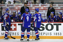 Slovakia team  at ice-hockey match Slovakia vs Norway at Preliminary Round (group C) of IIHF WC 2008 in Halifax, on May 03, 2008 in Metro Center, Halifax, Canada. (Photo by Vid Ponikvar / Sportal Images)