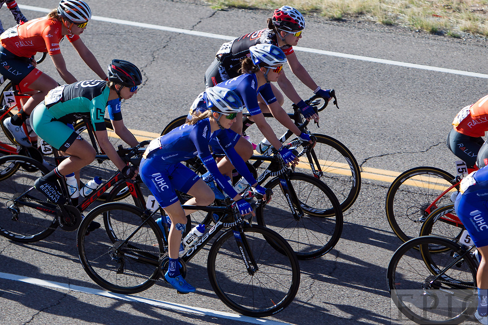 SILVERY CITY, NM - APRIL 18: Katharine Hall (UnitedHealthcare Pro Cycling Team) riders during stage 1 of the Tour of The Gila on April 18, 2018 in Silver City, New Mexico. (Photo by Jonathan Devich/Epicimages.us)