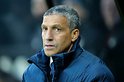 Brighton & Hove Albion manager Chris Hughton during the Premier League match between Newcastle United and Brighton and Hove Albion at St. James's Park, Newcastle, England on 30 December 2017. Photo by Craig Doyle.