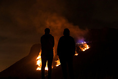 Salisbury Crags Fire, Edinburgh, 26 February 2019
