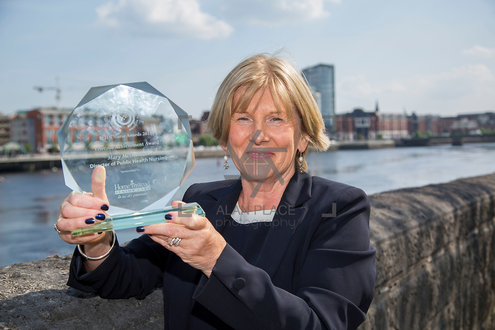 23.05.2018.       <br /> Today, the Institute of Community Health Nursing (ICHN) hosted its&nbsp;2018 community nurse&nbsp;awards in association with&nbsp;Home Instead Senior Care,&nbsp;at its annual nursing conference, in the Strand Hotel Limerick, rewarding public health nurses for their dedication to community care across the country. <br /> <br /> Pictured is Lifetime Achievement Award Winner Mary McDermott DPHN CHO 9. Picture: Alan Place