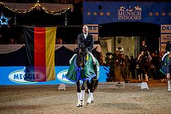 BOUTEN Matthias (GER), Meggle's Boston<br /> München - Munich Indoors 2019<br /> Siegerehrung<br /> Meggle Grand Prix Kür (CDI4*)<br /> 23. November 2019<br /> © www.sportfotos-lafrentz.de/Stefan Lafrentz