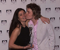 Rover British National Awards 2000, to close London Fashion Week, Natural History Museum ...FASHION JOURNALIST  WINNER MIMI SPENCER WITH JAMIE OLIVER, February 18, 2000. Photo by Andrew Parsons / i-images..