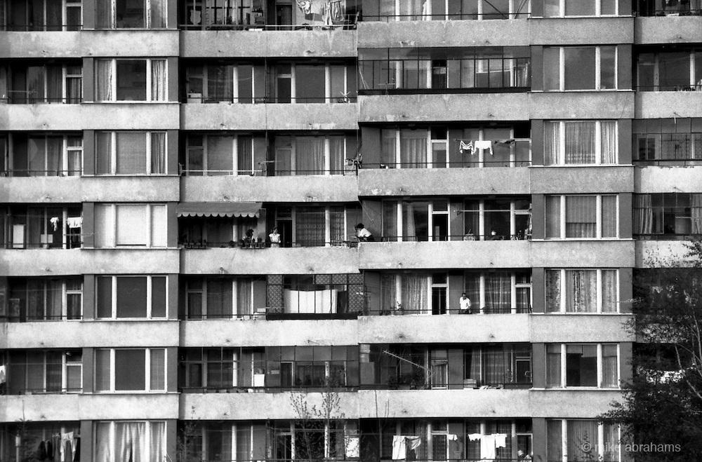 Mladost housing estate on the outskirts of Sophia, Bulgaria. April 1989