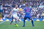 Luke Ayling of Leeds United (2) appeals for a free kick after the ball strikes Callum Connolly of Bolton Wanderers (17) hand during the EFL Sky Bet Championship match between Leeds United and Bolton Wanderers at Elland Road, Leeds, England on 23 February 2019.