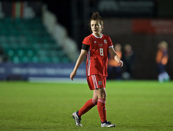NEWPORT, WALES - Thursday, April 4, 2019: Wales' Angharad James during an International Friendly match between Wales and Czech Republic at Rodney Parade. (Pic by David Rawcliffe/Propaganda)