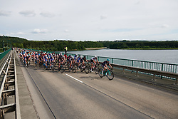 The peloton cross the water at Lotto Thuringen Ladies Tour 2018 - Stage 5, a 102.9 km road race starting and finishing in , Germany on June 1, 2018. Photo by Sean Robinson/velofocus.com
