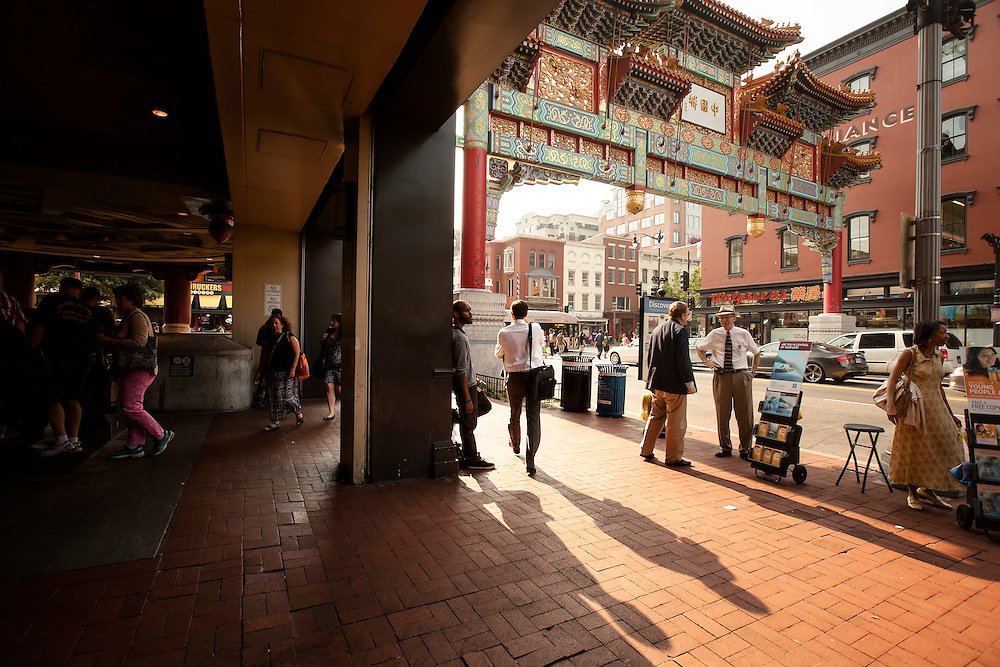 Chinatown Metro Station in Washington, D.C. Copyright 2015 Reid McNally.