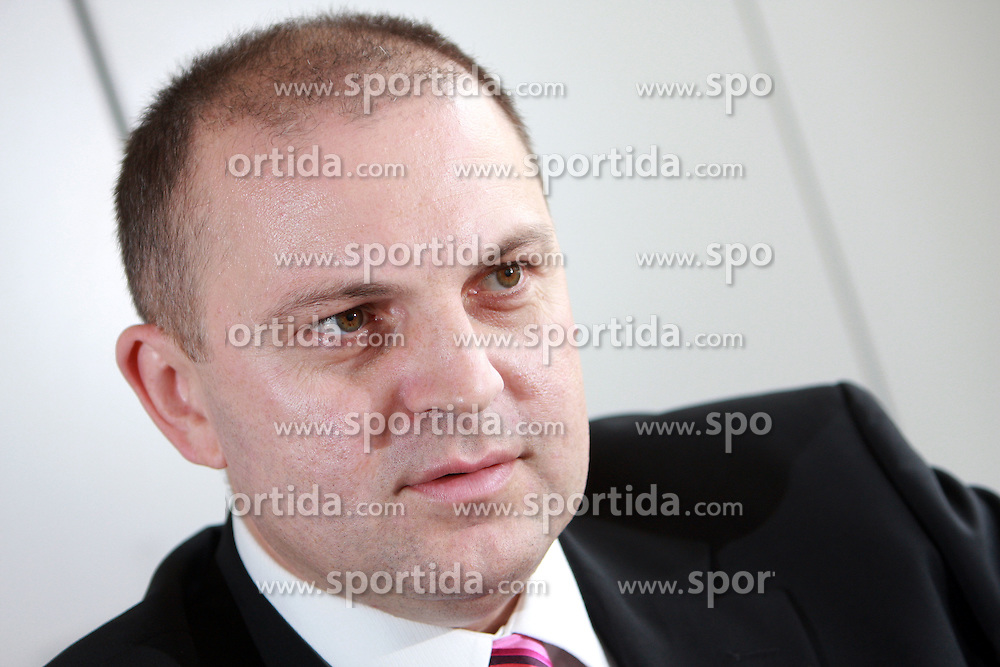 Interview with Dusan Mitic, president of Union Olimpija and manager at Telekom Slovenije, on September 23, 2008 in Telekom Slovenije, Cigaletova 15, Ljubljana, Slovenia. (Photo by Vid Ponikvar / Sportal Images)/ Sportida)