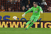Hull City goalkeeper Allan McGregor  during the Sky Bet Championship match between Hull City and Ipswich Town at the KC Stadium, Kingston upon Hull, England on 20 October 2015. Photo by Ian Lyall.