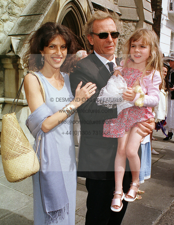 MR & MRS MARK SHAND he is the brother of Camilla Parker Bowles, and their daughter AYESHA, at a wedding in London on 5th June 1999.MSW 107