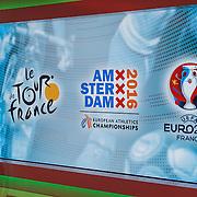 NLD/Hilversum/20160526 - perspresentaties NOS Sportzomer 2016, EK Voetbal & Tour de France, NOS sportdecor