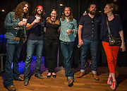 Lawyers having fun (CBA staff). The Sheepdogs, private concert. Canadian Bar Association 2013 Conference, Saskatoon, Saskatchewan.