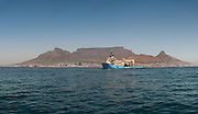 Maersk Attender out of Port in Cape Town