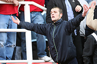 Photo: Pete Lorence.<br />Stoke City v Hull City. Coca Cola Championship. 21/04/2007.<br />Stoke fans showed their disgust as Hull equalised in the second half.