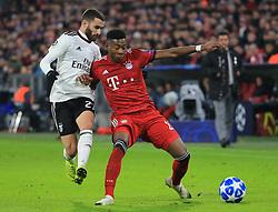 27.11.2018, Champions League  Saison 2018/ 2019, . Bayern vs Benfica Lissabon, Allianz Arena, Muenchen, Sport, im Bild:..Rafa Silva ( Benfica) vs David Alaba (FCB)..DFL REGULATIONS PROHIBIT ANY USE OF PHOTOGRAPHS AS IMAGE SEQUENCES AND / OR QUASI VIDEO...Copyright: Philippe Ruiz..Tel: 089 745 82 22.Handy: 0177 29 39 408.e-Mail: philippe_ruiz@gmx.de. (Credit Image: © Philippe Ruiz/Xinhua via ZUMA Wire)