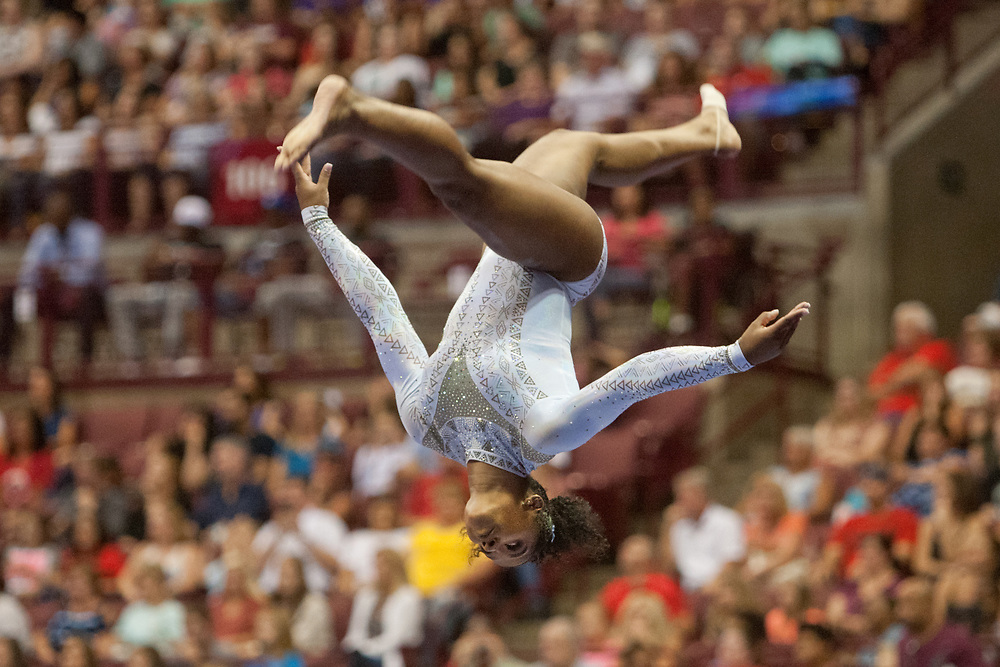 USA Gymnastics GK Classic - Schottenstein Center, Columbus, OH - July 28th, 2018. Jordan Chiles  competes on the beam  at the Schottenstein Center in Columbus, OH; in the USA Gymnastics GK Classic in the senior division. Simone Biles won the allround with Riley McCusker second and Morgan Hurd third. - Photo by Wally Nell/ZUMA Press