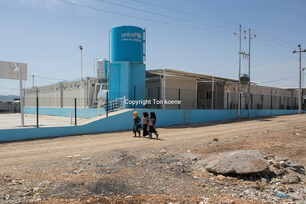 UNICEF school in Khanaqin refugee camp in Iraq where 8000 people have found refuge.
