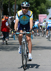 Jani Brajkovic (SLO) of Team Astana at start point of the 198 km long 3rd stage from Grado, Italy to Valdobbiadene, Italy at 92nd Giro d'Italia, on May 11, 2009, in Grado, Italy. (Photo by Vid Ponikvar / Sportida)