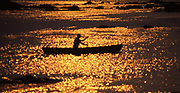 Canoeing in the sunset, Susquehanna River, Dauphin Co., PA