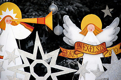 Christmas Decorations on Display in Kracow, Poland. Photo By i-Images