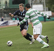 Dundee's Greg Stewart runs at Celtic&rsquo;s Emilio Izaguirre  - Dundee v Celtic, William Hill Scottish Cup fifth round at Dens Park <br /> <br /> <br />  - &copy; David Young - www.davidyoungphoto.co.uk - email: davidyoungphoto@gmail.com
