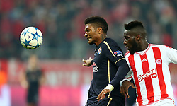 04.11.2015, Karaiskakis Stadium, Piraeus, GRE, UEFA CL, Olympiacos vs Dinamo Zagreb, Gruppe F, im Bild Fernandez, Arthur Masuaku // during UEFA Champions League group F match between Olympiacos and Dinamo Zagreb at the Karaiskakis Stadium in Piraeus, Greece on 2015/11/04. EXPA Pictures © 2015, PhotoCredit: EXPA/ Pixsell/ Slavko Midzor<br /> <br /> *****ATTENTION - for AUT, SLO, SUI, SWE, ITA, FRA only*****