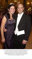 PRINCE & PRINCESS DIMITRI LOBANOV-ROSTOVSKY, at a ball in London on 2nd February 2001.OLA 60