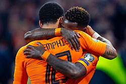 24-03-2019 NED: UEFA Euro 2020 qualification Netherlands - Germany, Amsterdam<br /> Netherlands lost the match 3-2 in the last minute / Memphis Depay #10 of The Netherlands, Quincy Promes #11 of The Netherlands