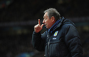Gerard Houllier  during the Barclays Premier League match between Aston Villa and Fulham at Villa Park on February 5, 2011 in Birmingham, England.